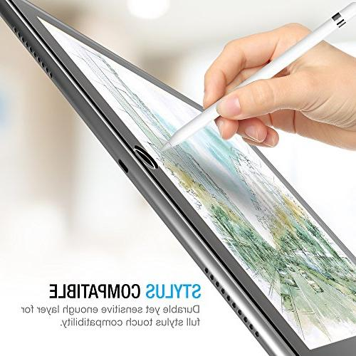 iPad Pro Screen Protector Glass, Tempered Screen for 2017 0.3mm 2.5D Rounded Anti-Scratch