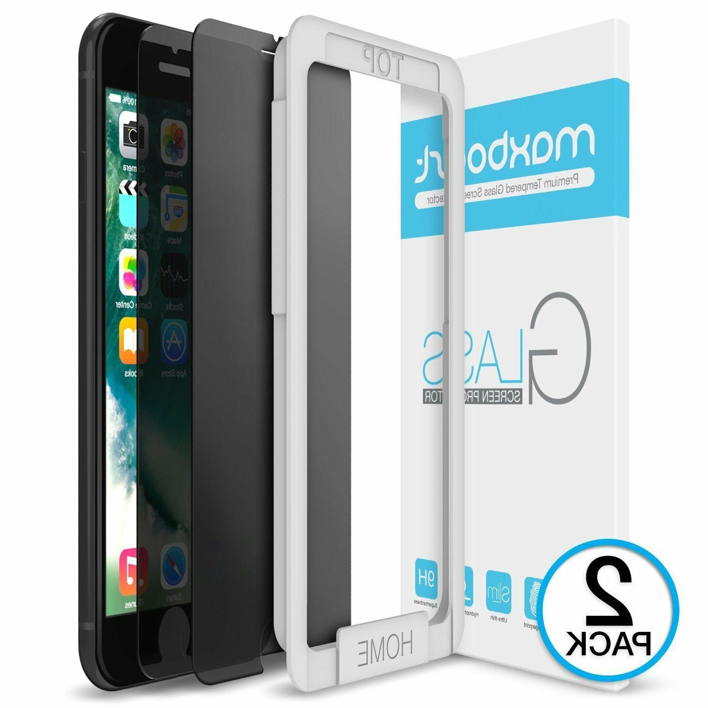 iPhone 7 X XR XS Plus 3D Maxboost Tempered Glass