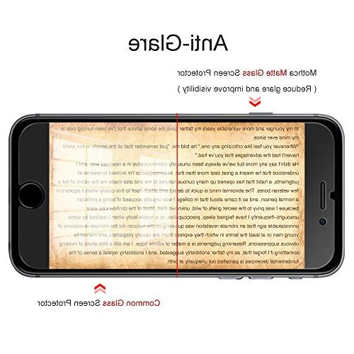 Mothca Matte Compatible with 6s 7 & Clear Glass Smooth Silk-Lifetime Warranty