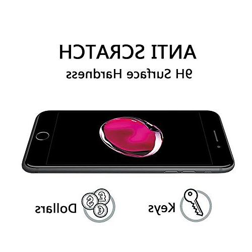 3Pack Tempered Clear Sreen Protector, Full Coverage for iPhone 8 Plus