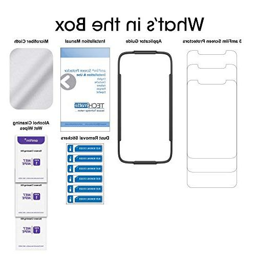iPhone Protector Glass , amFilm iPhone Xs/X Tempered Glass Protector Tray Apple Xs,