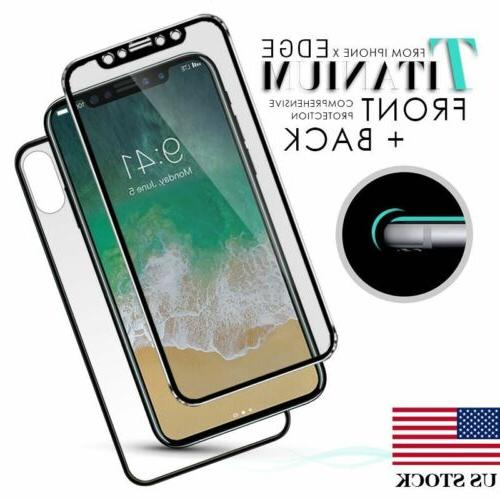 For iPhone X XS 3D Front and Back Screen Protector Titanium