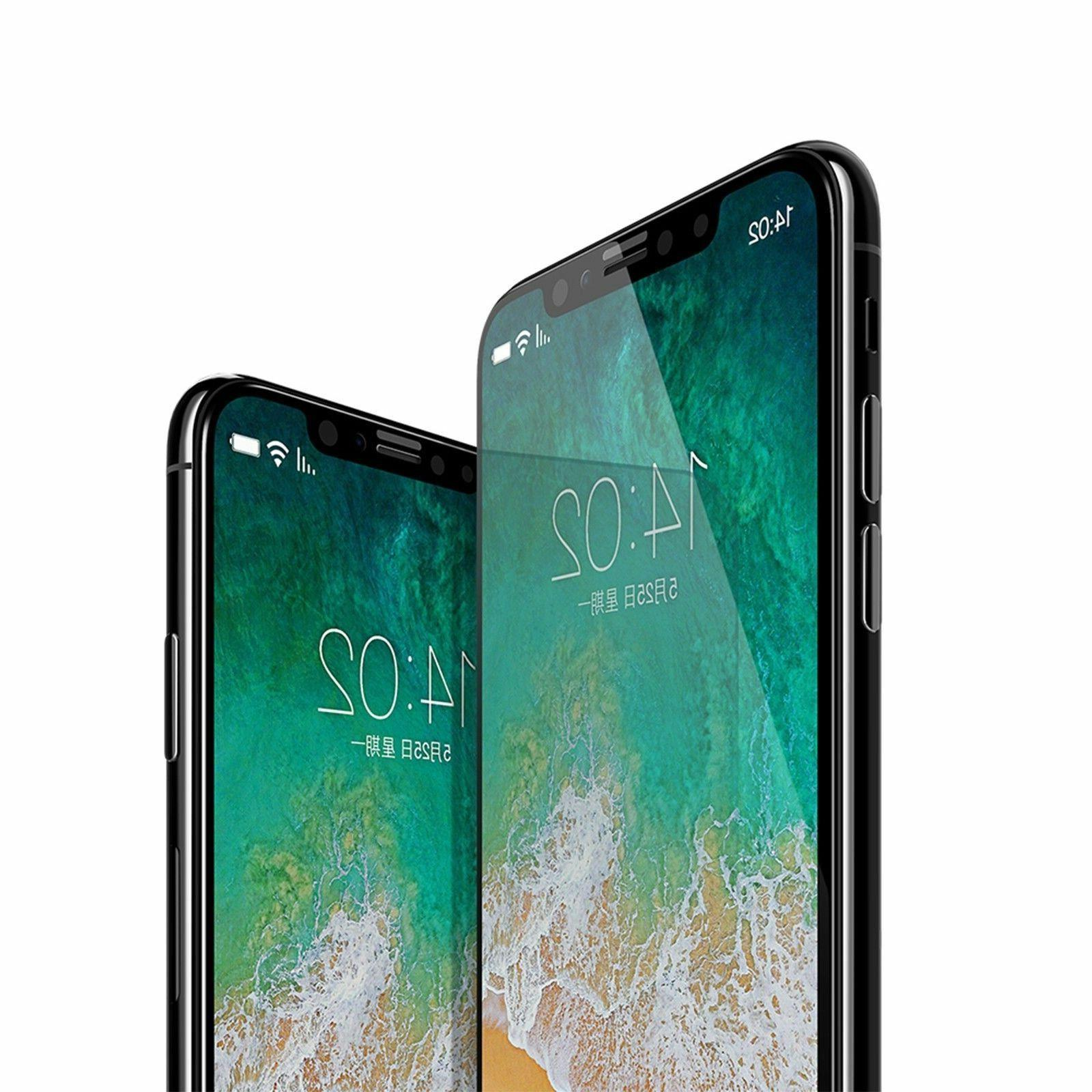 For X XS Max XR 11 Full Coverage Tempered Screen
