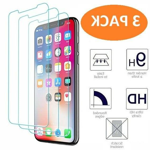 iphone x xs screen protector 3 pack