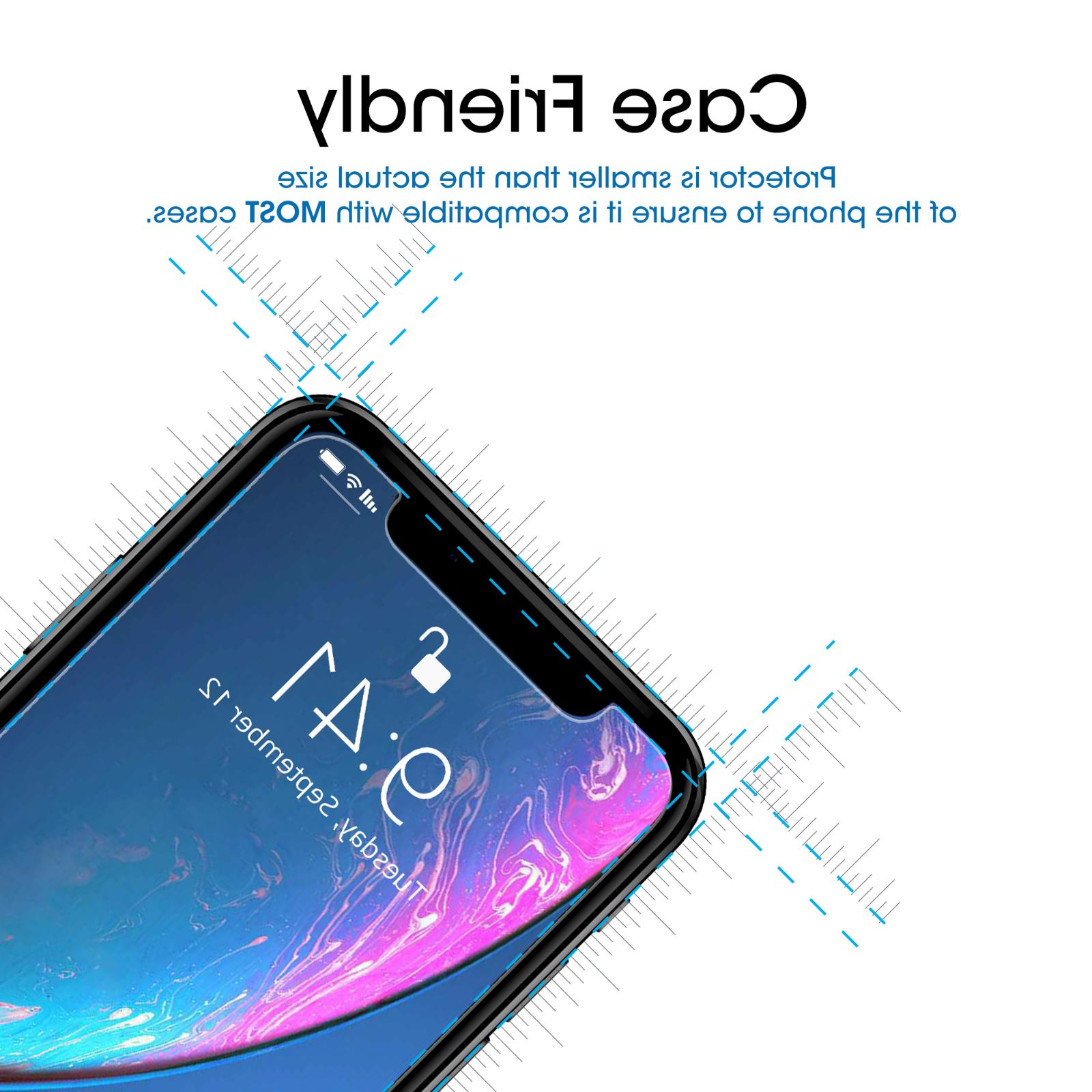 iPhone XR amFilm Tempered Screen Protector for Apple iPhone 10R