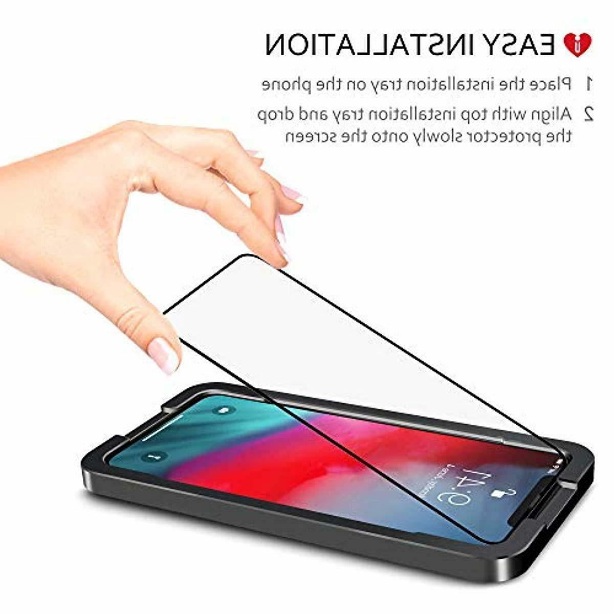 iCarez xs max Full Tempered Screen Protector pack