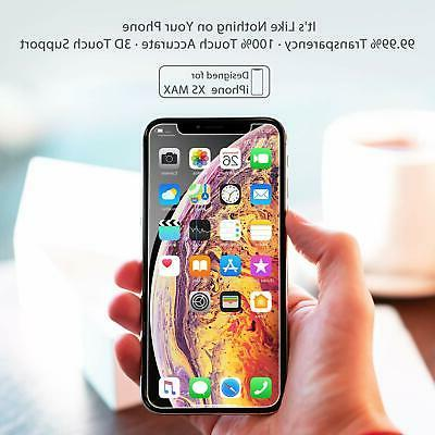 For iPhone XS Max Screen Protector 3 PACK Anti Fingerprint