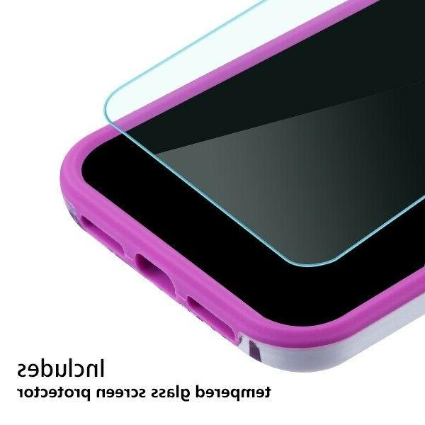 For iPhone XS XR Shockproof Cover +Tempered Glass