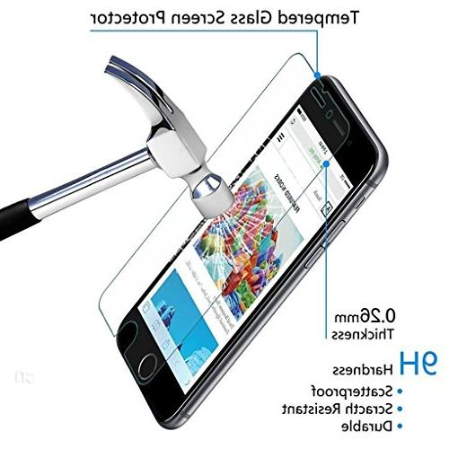 and Glass Screen Tempered Glass Screen Protector Compatible with iPhone and