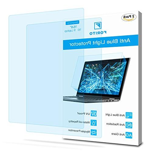 """2-Pack 15.6 Laptop Screen Protector -Blue and Anti FORITO Eye Blue Light Glare Screen 15.6"""" Ratio Laptop"""