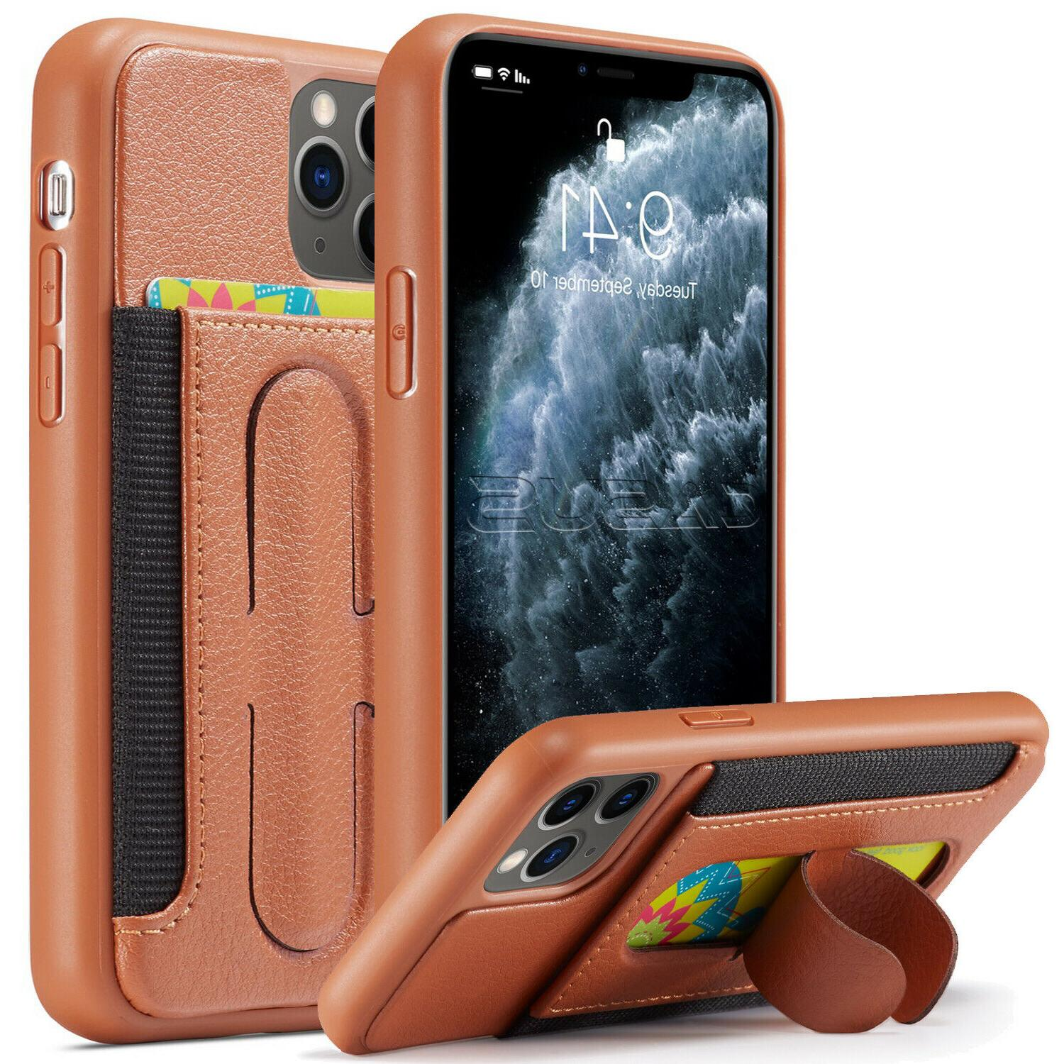 Leather Back Case for 11 Pro Glass Screen Protector