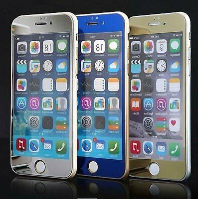 mirror effect color hd tempered glass screen