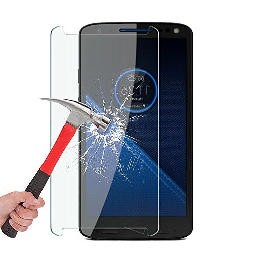 OMOTON Motorola Droid Turbo 2 Screen Protector Tempered Protector for Droid