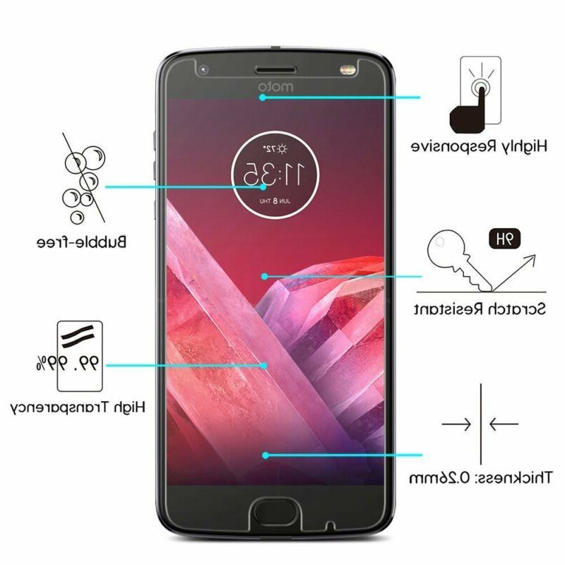 Premium Glass Screen Protector Moto Z2 Z4 Z2