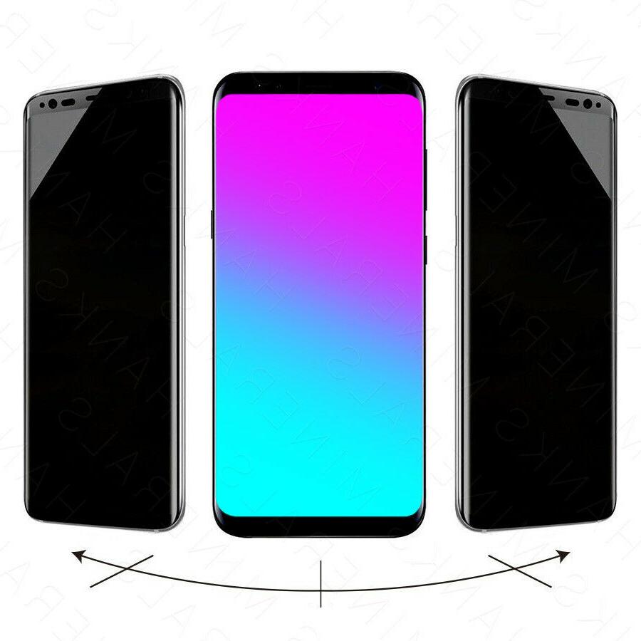 Privacy Tempered Glass Screen For Samsung Galaxy S8 Note 8 9