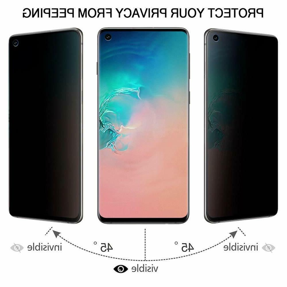 Privacy Screen Tempered Glass For Samsung S10 Plus