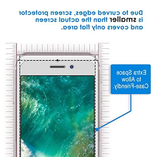 JETech Screen Apple iPhone 8, iPhone 7, 6s, 6, 4.7-Inch, Tempered Film with Easy-Installation 2-Pack