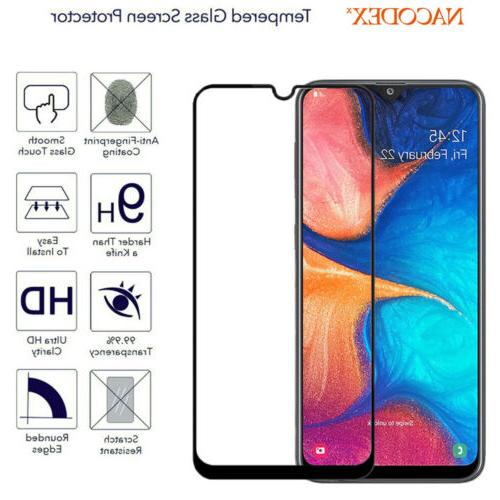 For Samsung Galaxy 2019 Full Cover Glass Screen Protector -Black
