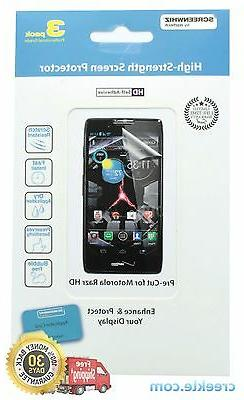 ScreenWhiz Screen Protector 3-Pack for Motorola Razr HD