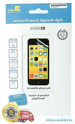 ScreenWhiz Screen Protector 3-Pack w/ cleaning cloth for App