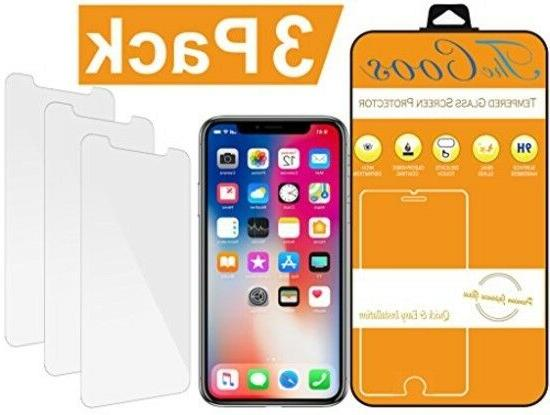 tempered glass 3 pack iphone x xs