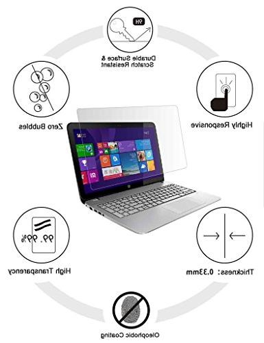 Tempered for 15.6 Inches 9H and Clear, Compatible Any 15.6 inch Laptop