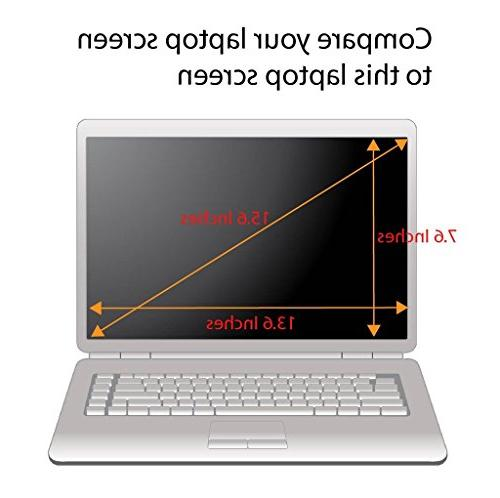 Tempered for Laptop, 9H Hardness and Crystal Clear, Any 15.6 Laptop