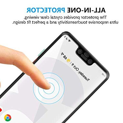 Glass Screen Protector Compatible Google Pixel 3 for Pixel 3