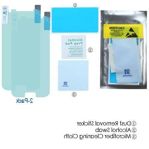 2-Pack Tempered Glass Protector Film 2.5D Samsung