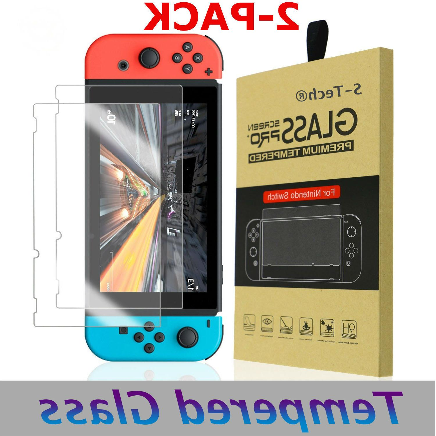 2X Premium Tempered Screen Protector Guard For Nintendo Switch 2017