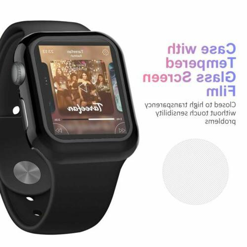 Tempered Glass Screen + Case iWatch 4 3