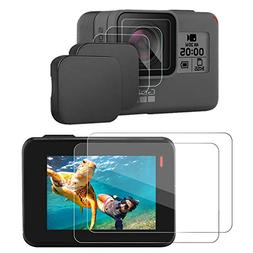 Hapurs Lens Cap and Lens & Screen Protector for for GoPro He