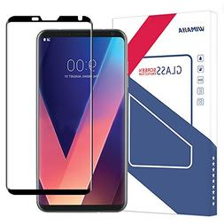 LG V30 Screen Protector , Wimaha 1 Pack 3D Curved Tempered G