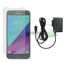 Micro USB Wall Charger+Clear HD Screen Protector for Samsung