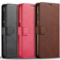 For Samsung Galaxy A11 Case, Premium Leather Wallet + Temper