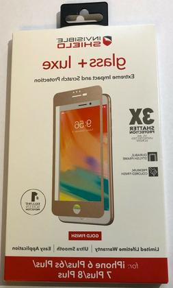 NEW ZAGG Glass + Luxe Screen Protector for iPhone 8 PLUS /
