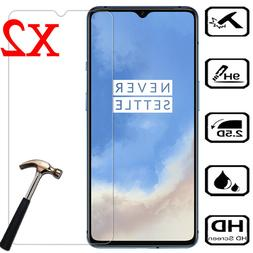 For OnePlus 7T 7 6 6T 5 5T 3 3T 2Pcs Premium HD Tempered Gla