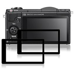 Screen Protectors for Sony A5100, AFUNTA 2 Packs Anti-scratc