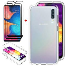 For Samsung Galaxy A20S Clear Crystal Case TPU Slim Cover+Fu