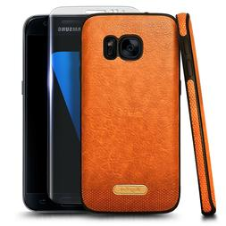 For Samsung Galaxy S7 Case Shockproof PU Leather Phone Cover