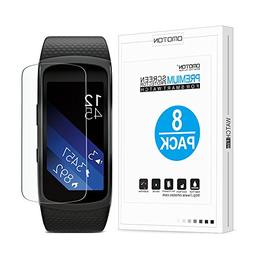 Samsung Gear Fit2 Screen Protector , OMOTON Full-Coverage Sc