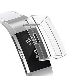 Screen Protector for Fitbit Charge 2, Minfex Soft TPU Cover