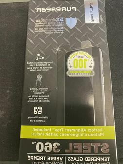 PureGear Steel 360 Tempered Glass Screen Protector for Apple