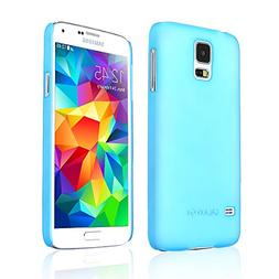 Frosted Baby Blue Samsung Galaxy S5 Hybrid Case Cover  Supp