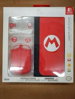 "Nintendo Switch Starter Kit - Mario ""M"" Edition w/ case, ear"
