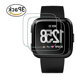 for Tempered Glass Fitbit Versa Screen Protector,Qingduoduo