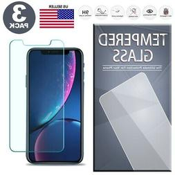Tempered Glass Screen Protector 3-Pack for iPhone X XS Max X