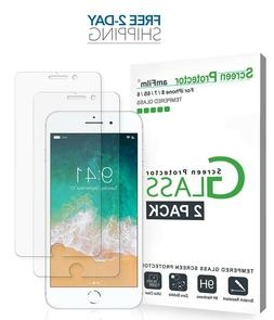 amFilm Tempered Glass Screen Protector for iPhone 8, 7, 6S,