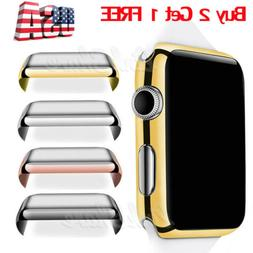 US For Apple Watch 38/42MM Full Body Cover Snap On Case+Scre